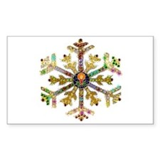Sparkly Art Snowflake Decal