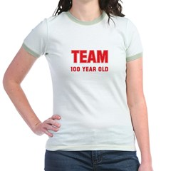Team 100 YEAR OLD Jr. Ringer T-Shirt