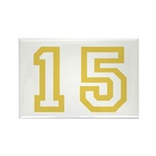 GOLD #15 Rectangle Magnet