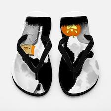 Gone Halloween Squatchin' Flip Flops