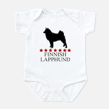 Finnish Lapphund (red stars) Infant Bodysuit