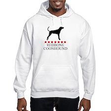 Redbone Coonhound (red stars) Hoodie