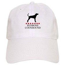 Redbone Coonhound (red stars) Baseball Cap