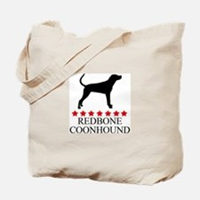 Redbone Coonhound (red stars) Tote Bag