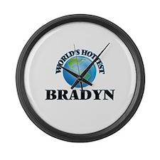 World's Hottest Bradyn Large Wall Clock