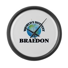 World's Hottest Braedon Large Wall Clock