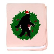 Gone Christmas Squatchin' baby blanket