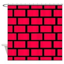 RED BRICK WALL Shower Curtain