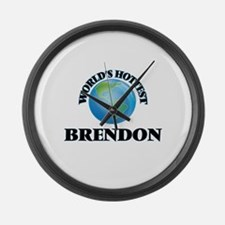 World's Hottest Brendon Large Wall Clock