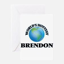 World's Hottest Brendon Greeting Cards