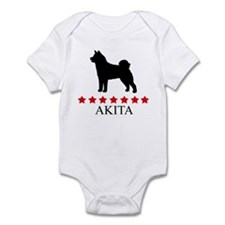 Akita (red stars) Infant Bodysuit