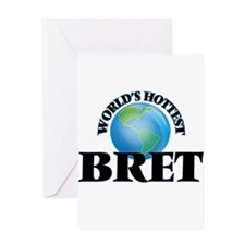 World's Hottest Bret Greeting Cards