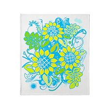 Sunflower_Growth Throw Blanket