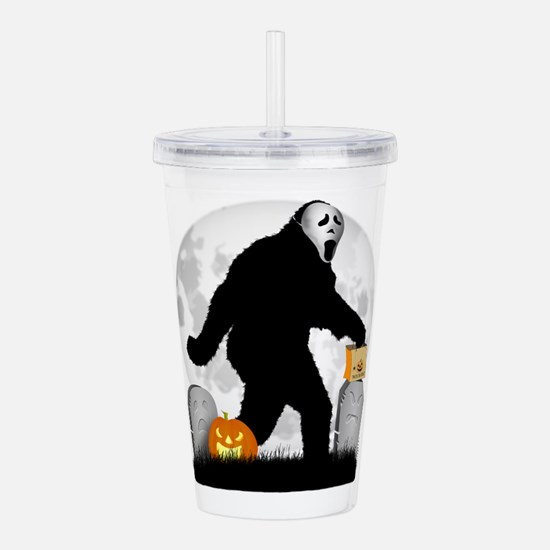 Gone Halloween Squatch Acrylic Double-wall Tumbler