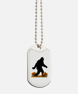 Gone Thanksgiving Squatchin' Dog Tags