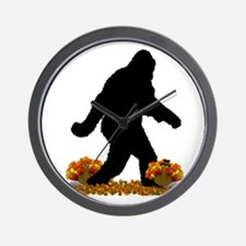 Gone Thanksgiving Squatchin' Wall Clock