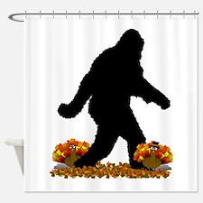 Gone Thanksgiving Squatchin' Shower Curtain