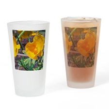 Yellow Beauties Drinking Glass