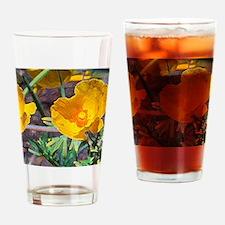Yellow Beauties Drinking Glass