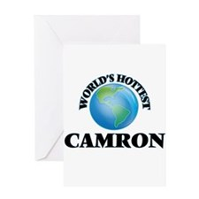 World's Hottest Camron Greeting Cards