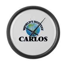 World's Hottest Carlos Large Wall Clock