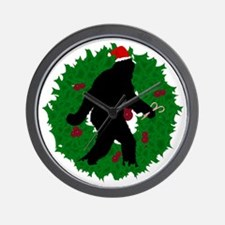 Gone Christmas Squatchin' Wall Clock