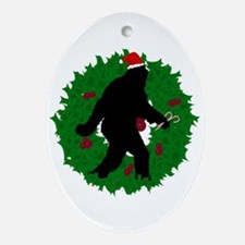 Gone Christmas Squatchin' Ornament (Oval)