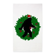 Gone Christmas Squatchin' 3'x5' Area Rug