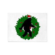 Gone Christmas Squatchin' 5'x7'Area Rug