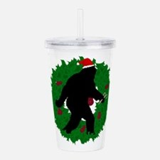 Gone Christmas Squatch Acrylic Double-wall Tumbler