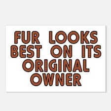 Fur looks best - Postcards (Package of 8)