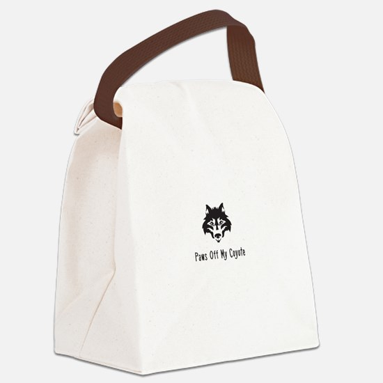 Paws Off My Coyote Canvas Lunch Bag