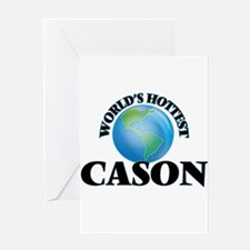 World's Hottest Cason Greeting Cards