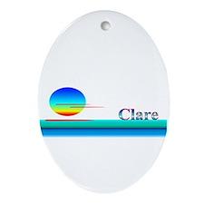 Clare Oval Ornament