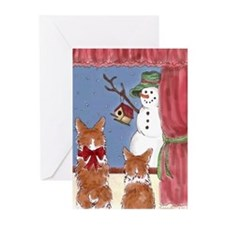 Funny Welsh corgi christmas Greeting Cards (Pk of 20)