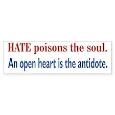 Hate Poisons Bumper Sticker