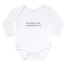 Cute Spanglish Long Sleeve Infant Bodysuit