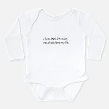 Unique Tia Long Sleeve Infant Bodysuit