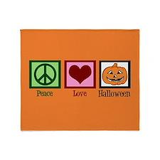 Halloween Orange Throw Blanket