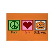 Halloween Orange Rectangle Magnet