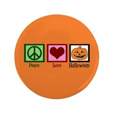 "Halloween Orange 3.5"" Button"