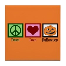Halloween Orange Tile Coaster