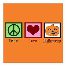 "Halloween Orange Square Car Magnet 3"" x 3"""