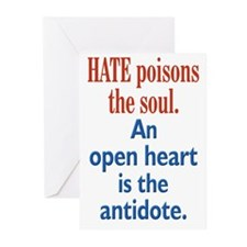 Hate Poisons Greeting Cards (Pk of 10)