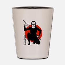 Ninja Girl Shot Glass