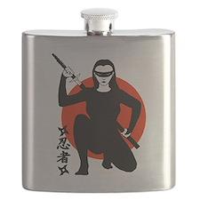 Ninja Girl Flask