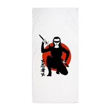 Ninja Girl Beach Towel