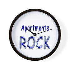 Apartments Rock Wall Clock