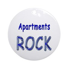 Apartments Rock Ornament (Round)