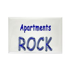 Apartments Rock Rectangle Magnet